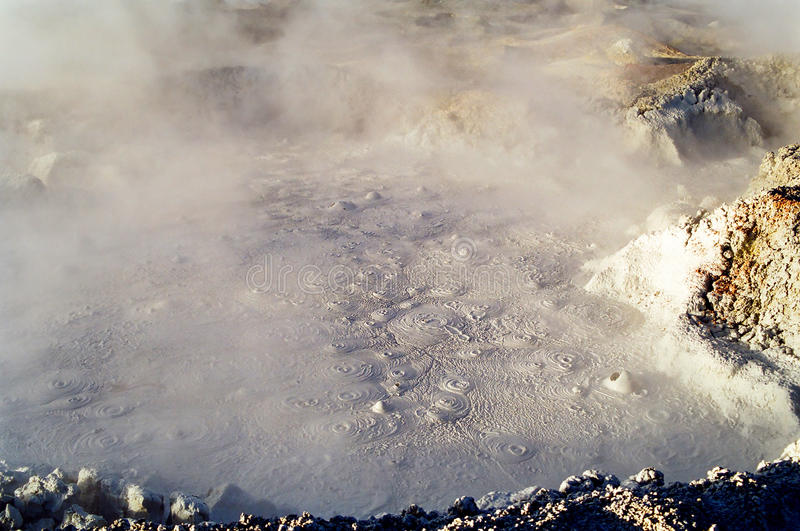 Geyser Mud Bubbles, Bolivia stock photography