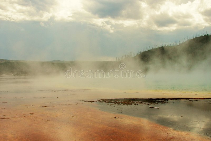 Geyser Pool royalty free stock photography