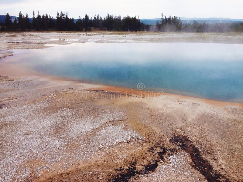 Download Geyser in Yellowstone stock photo. Image of tourist, america - 43606226