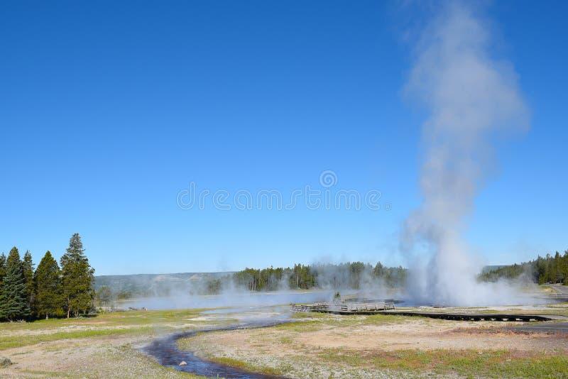 Geyser Yellowstone di Aretsia immagini stock
