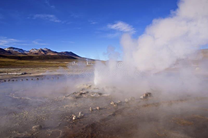 Geysers d'EL Tatio dans Atacama, Chili image libre de droits
