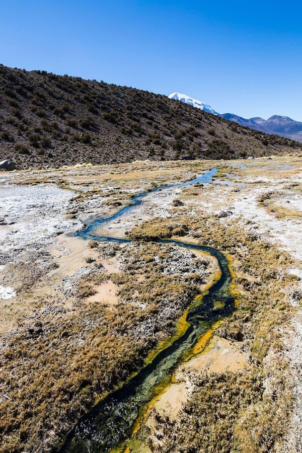 Geysers de Junthuma, formados pela atividade geotérmica bolívia fotografia de stock