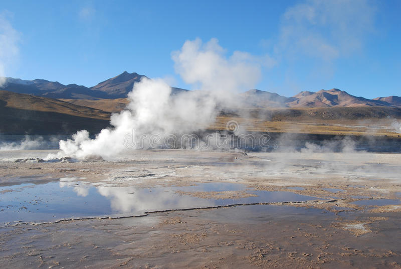 geysers EL tatio στοκ εικόνες