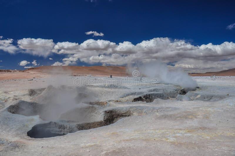 Geysers Sol Manana, Sur Lipez, Bolívia sul foto de stock