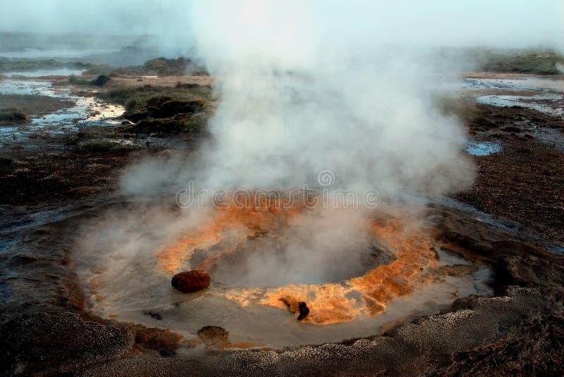 geysir冰岛 免版税图库摄影