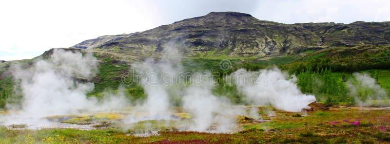 Geysir地区,冰岛 图库摄影
