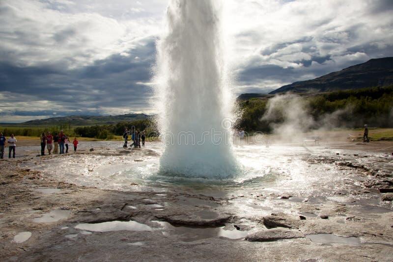 geysir Исландия стоковые изображения rf