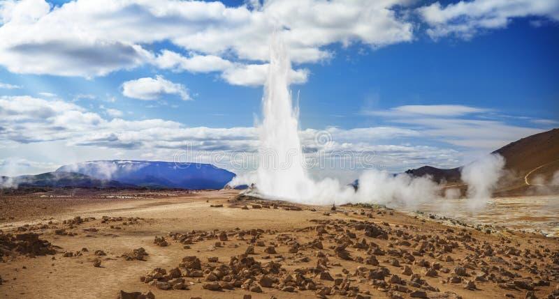Geysir, de Aard van IJsland, landschap royalty-vrije stock foto
