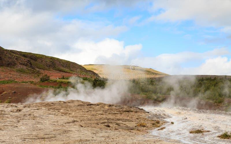 Geysir Geotermiczny pole zdjęcie stock