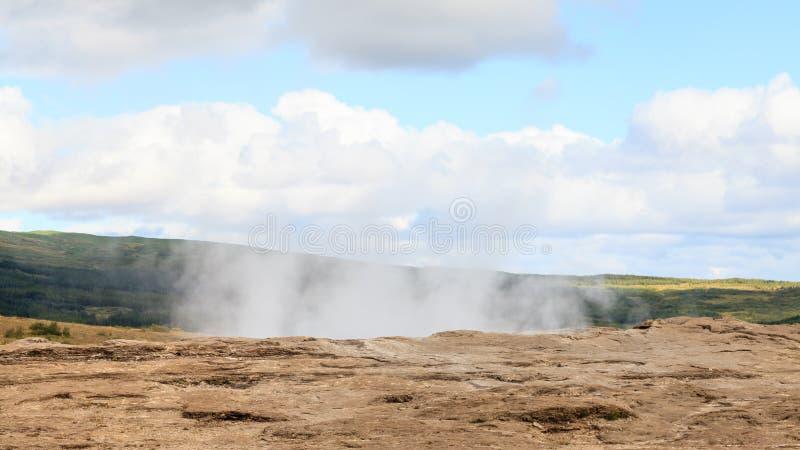 Geysir Geotermiczny pole zdjęcia royalty free