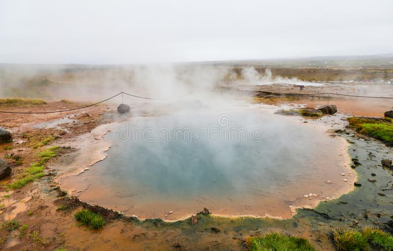 Geysir in IJsland royalty-vrije stock fotografie