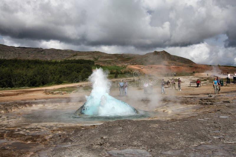 Geysir, Islândia imagem de stock