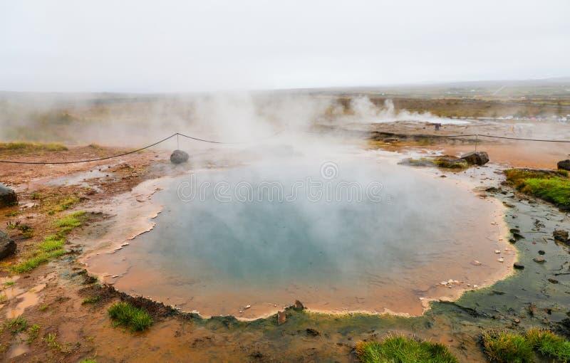 Geysir in Island lizenzfreie stockfotografie