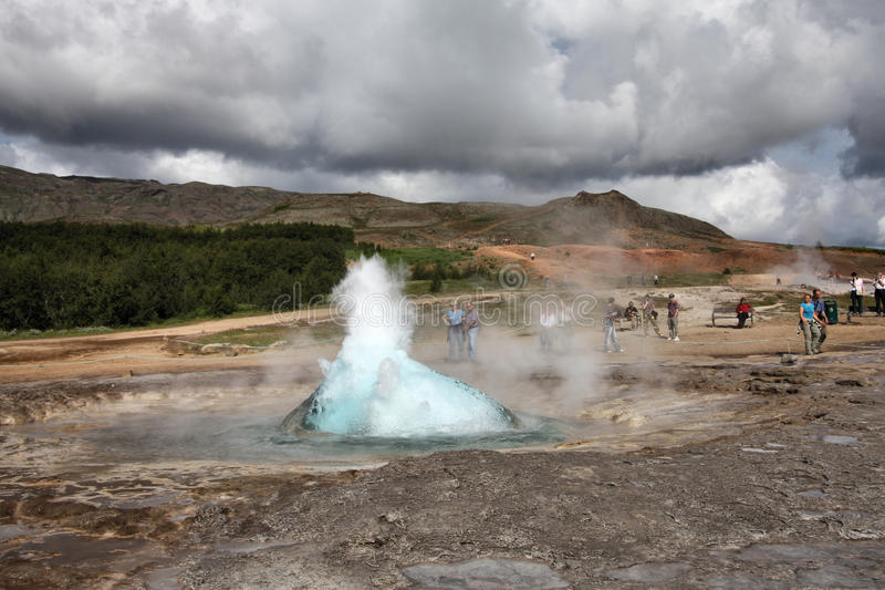 Geysir, Islande image stock