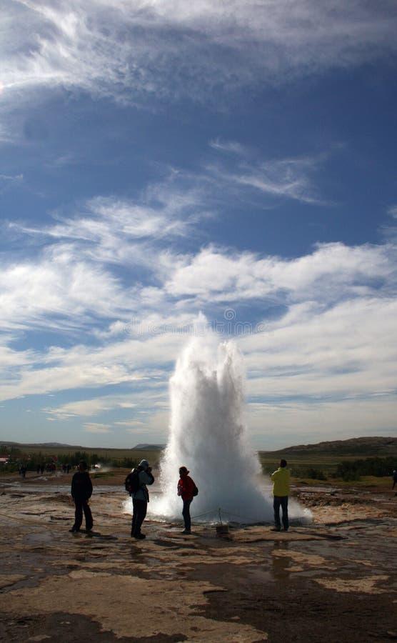 Geysir Strokkur Islândia fotos de stock