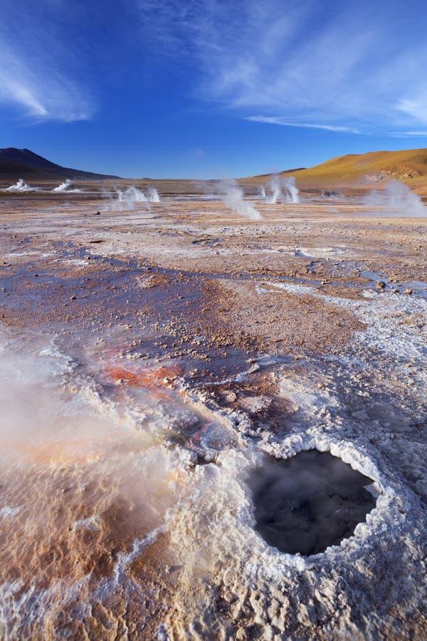 Geysire EL Tatio in der Atacama-Wüste, Nord-Chile lizenzfreie stockbilder