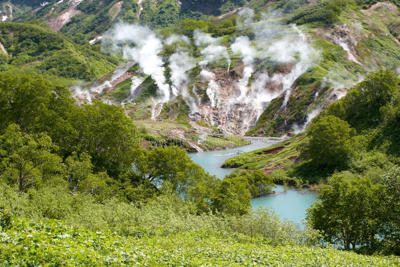 Geysire, Vulkan stockfotos