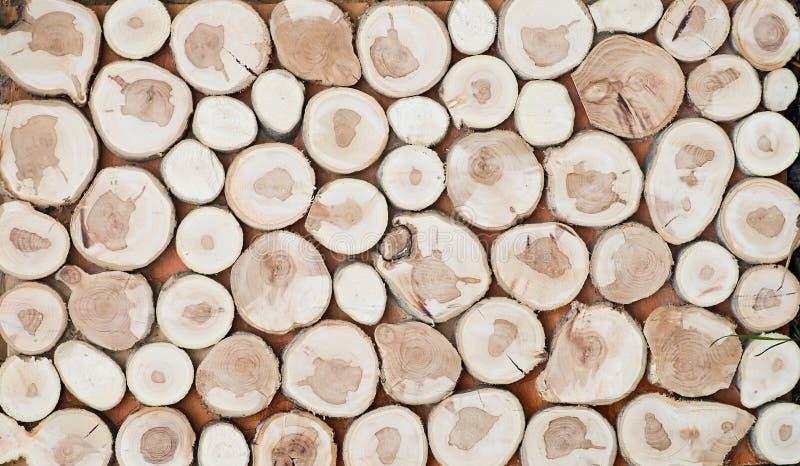 Gezaagd hout voor decoratie Textuur, behang stock afbeelding