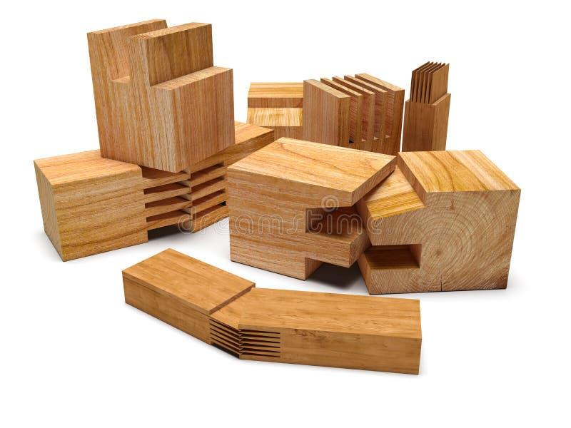 Gezaagd houten profiel Geïsoleerde royalty-vrije stock afbeeldingen