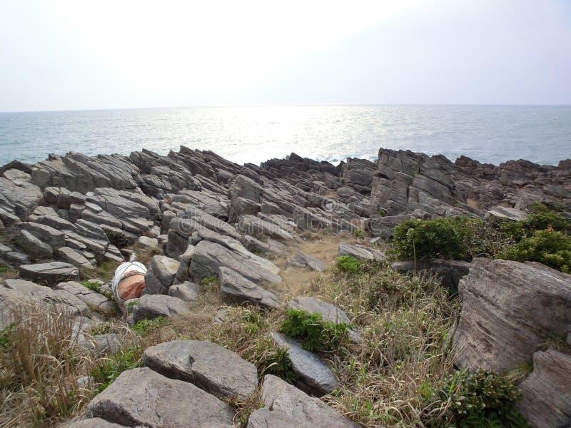 Gezackte Küste stockbilder