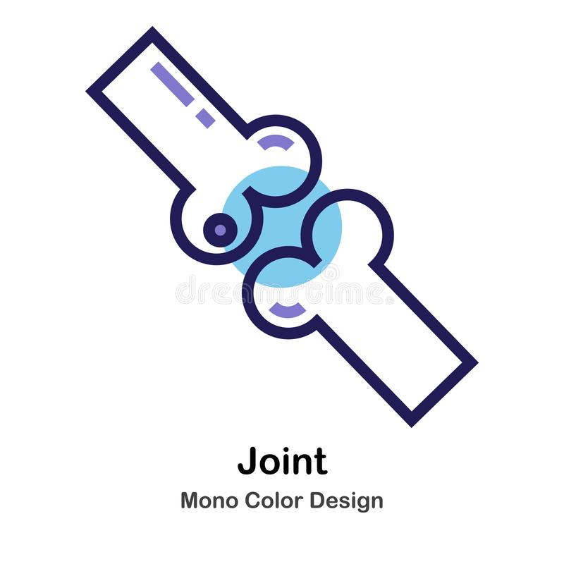 Gezamenlijk monokleurenpictogram stock illustratie
