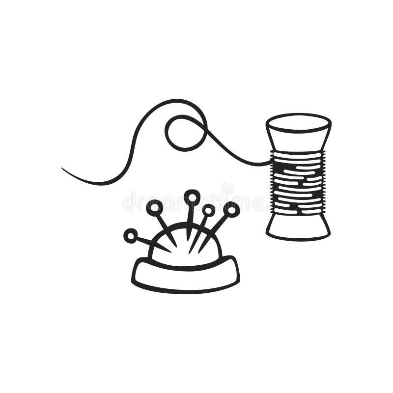 Download Gezeichnete Ikone Des Vektors Hand Des Threads Vektor Abbildung - Illustration von fashion, bandspule: 106801475