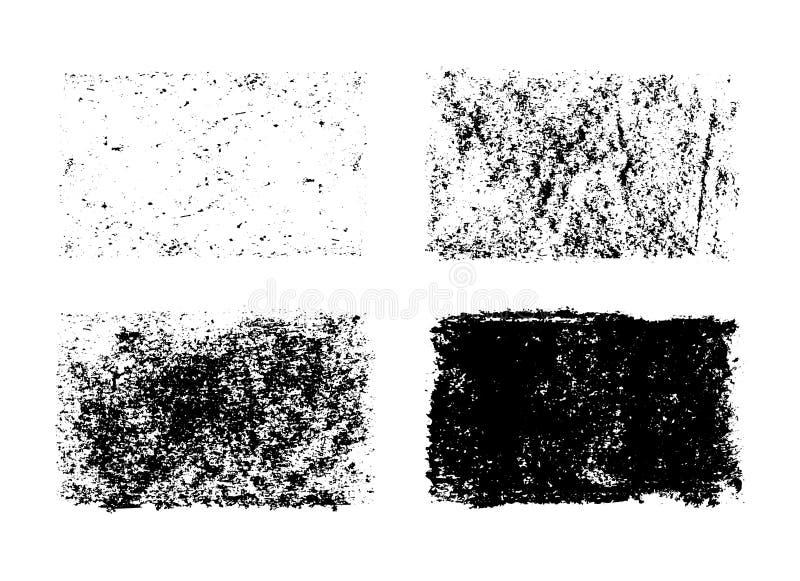 Gezeichnete Sammlung des Vektors Hand Schmutzbeschaffenheiten vektor abbildung