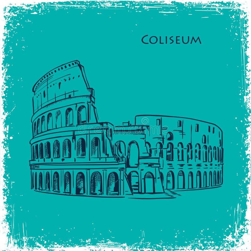 Gezeichnete Vektorillustration Rom-Gebäudes Hand vektor abbildung