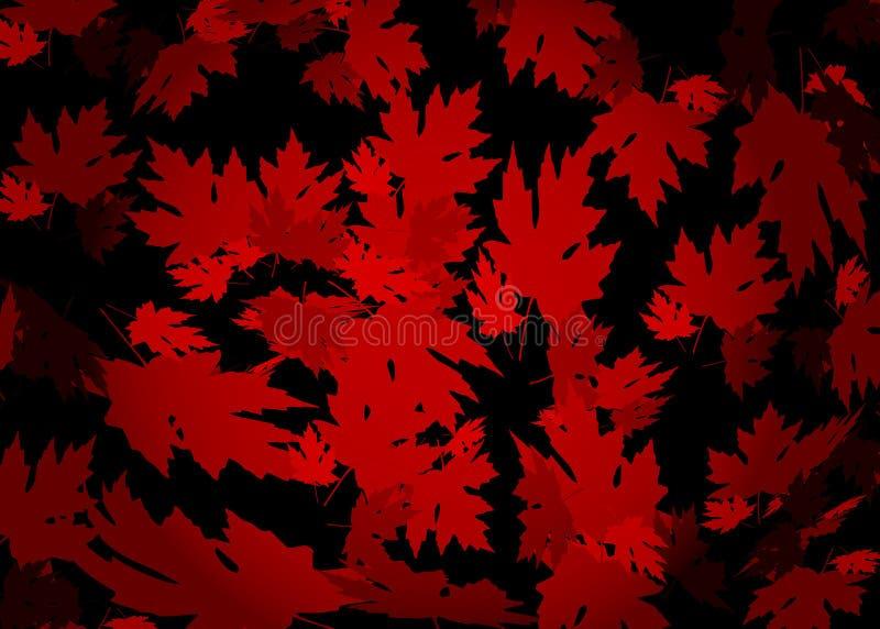 Gezeichneter Herbsthintergrund mit schönem ledrawn Herbsthintergrund mit schönen Blättern, Musterbeschaffenheit Rotahornblätter,  vektor abbildung