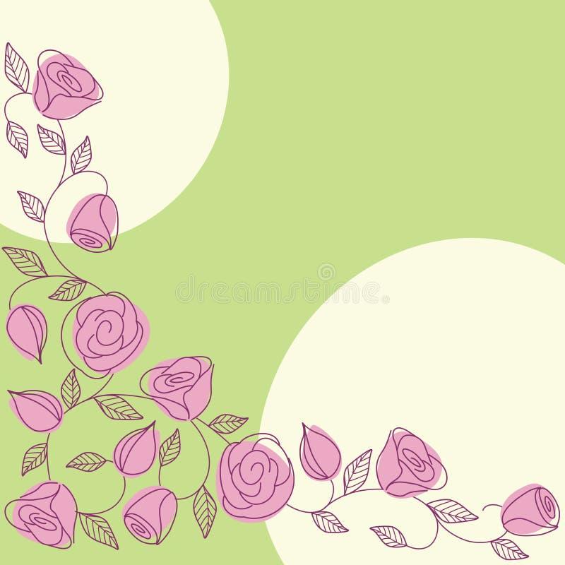 Gezeichneter Hintergrund des Frühjahrs Hand mit Rosen vektor abbildung