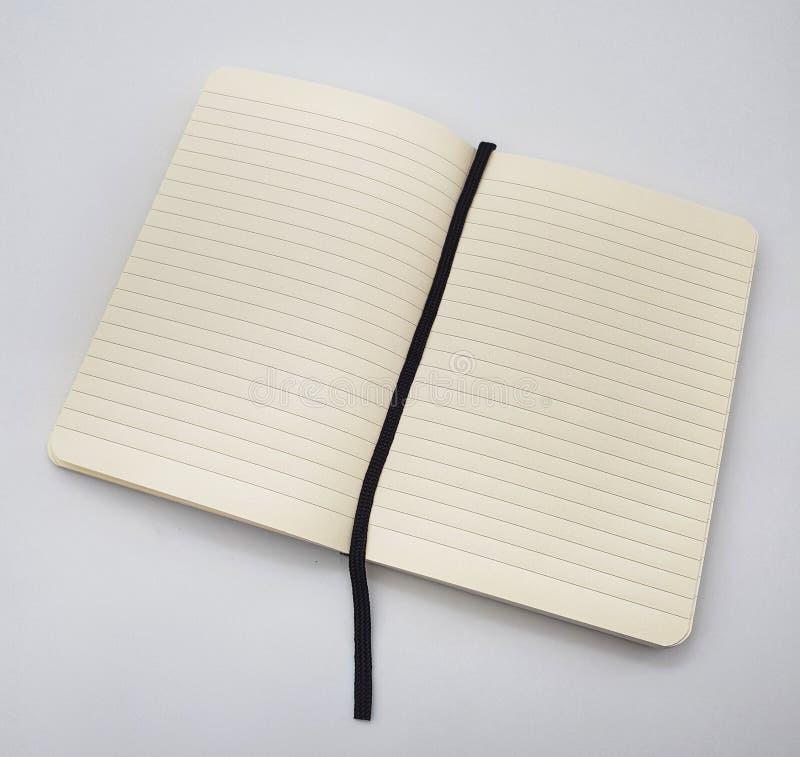Gezeichneter Notizblock mit Bookmark stockbild