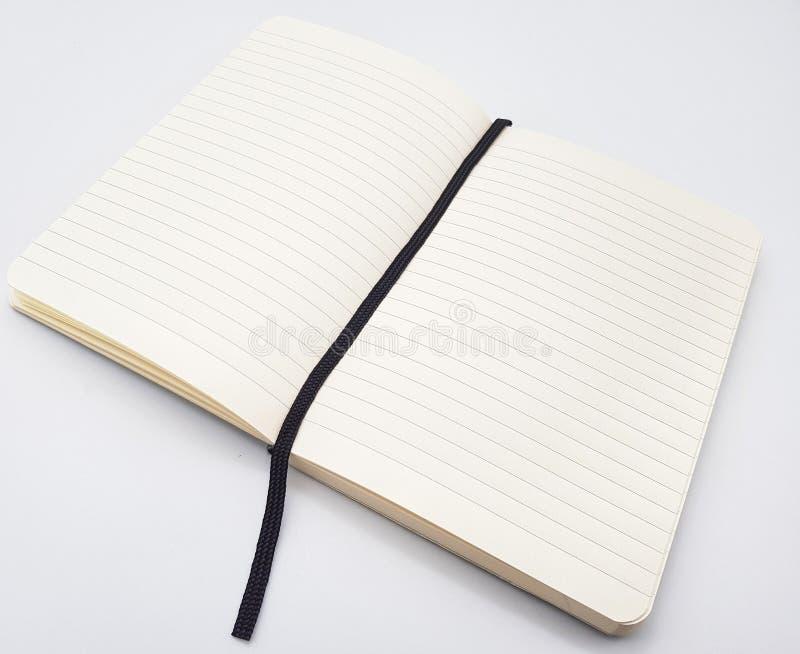 Gezeichneter Notizblock mit Bookmark stockfotografie