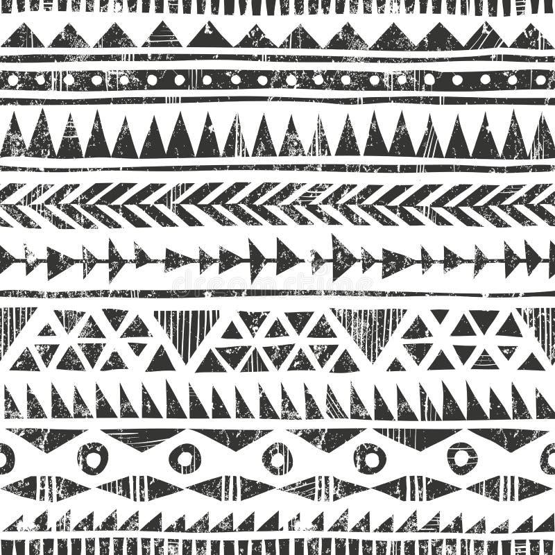 Gezeichneter Stammes- Druck des Vektors Hand ursprünglich lizenzfreie abbildung