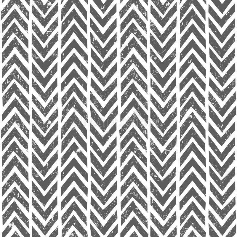 Gezeichnetes Stammes- Muster des Vektors Hand nahtlos lizenzfreie abbildung