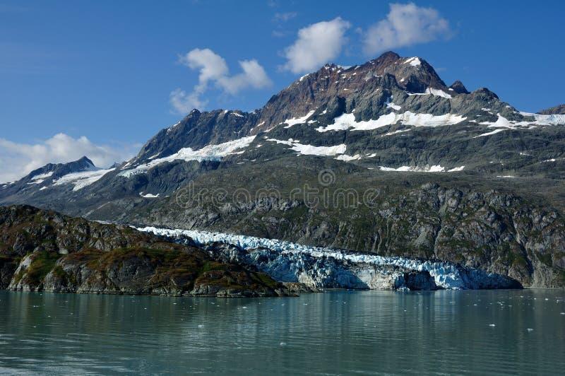 Gezeitenwasser Lambplugh Gletscher, Alaska stockfotos