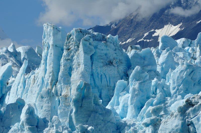 Gezeitenwasser Margerie Gletscher, Alaska lizenzfreies stockfoto