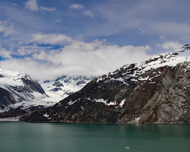Gezeitenwassergletscher College-Fjord, Alaska stockbild