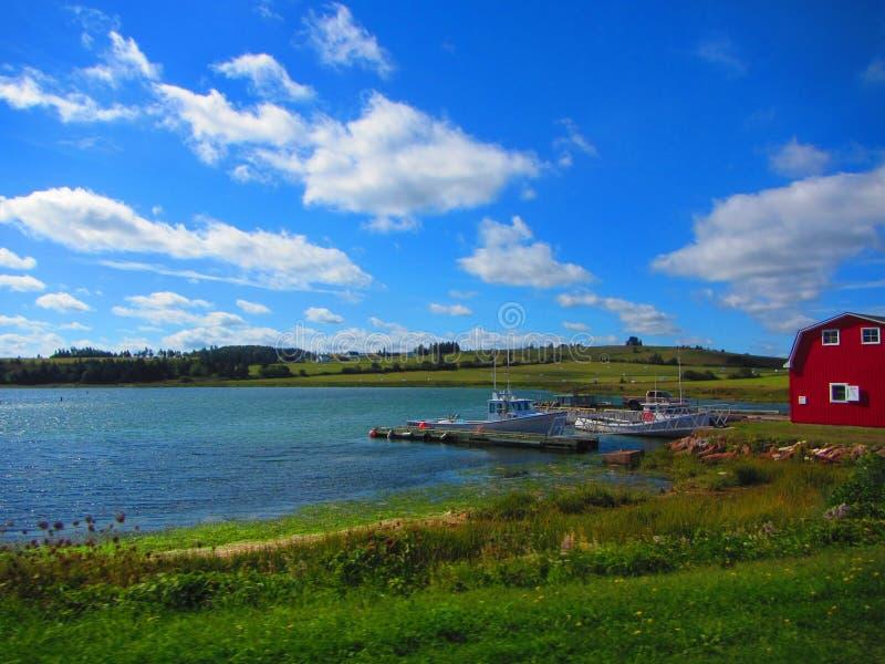 Gezellig ouderwets de visserijdorp van Prinsedward island stock fotografie