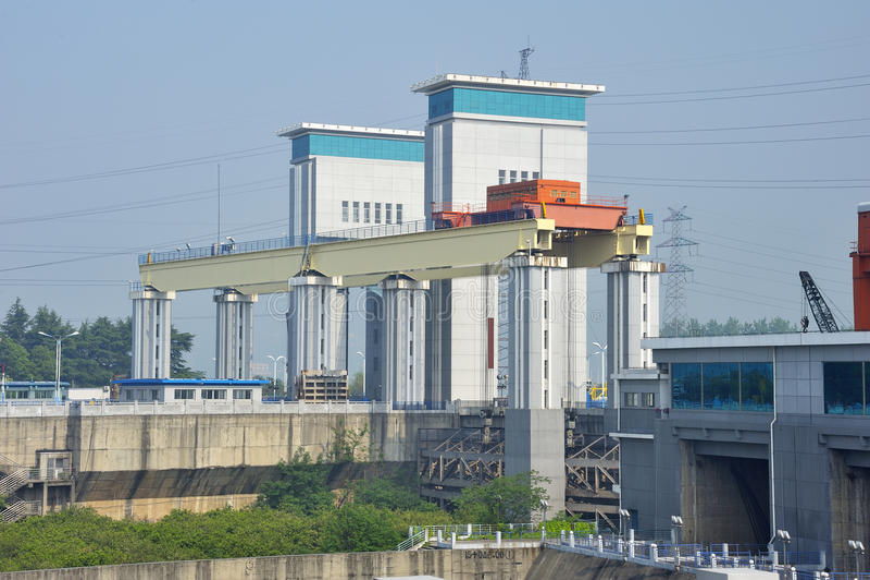 Download Gezhou dam stock image. Image of china, electricity, water - 30745405