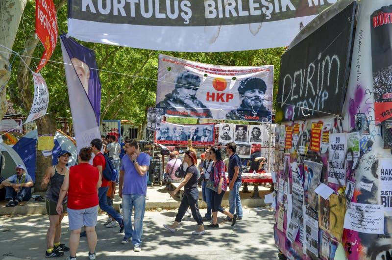 Gezi公园,世界政治和革命民间英雄poste 免版税图库摄影