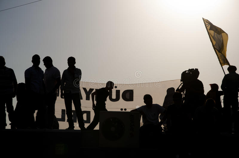 Gezi Park Protests in Istanbul royalty free stock photos