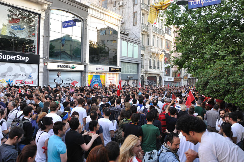 Gezi Park Protests in Istanbul stock image