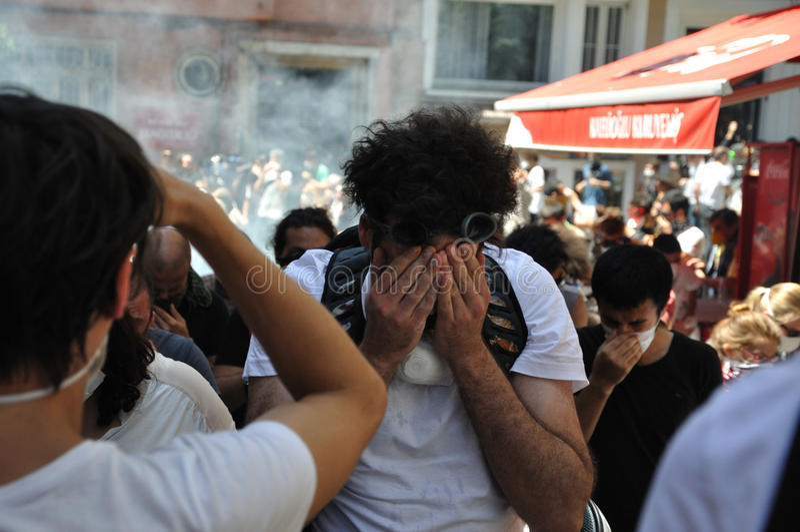 Gezi parka protesty w Istanbuł zdjęcie stock