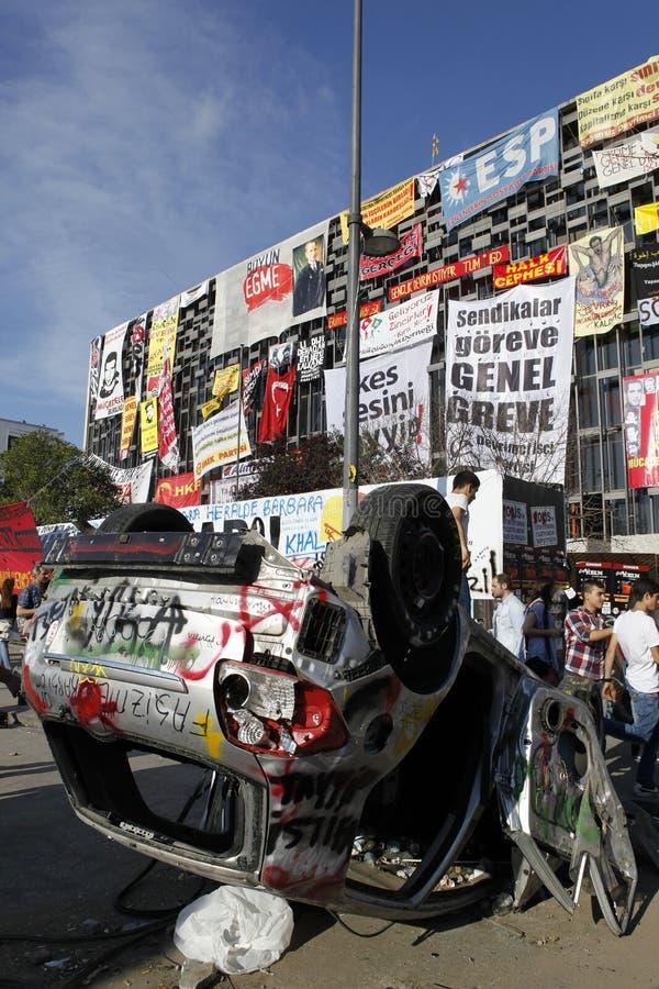 Gezi parkerar protester i Istanbul royaltyfria bilder