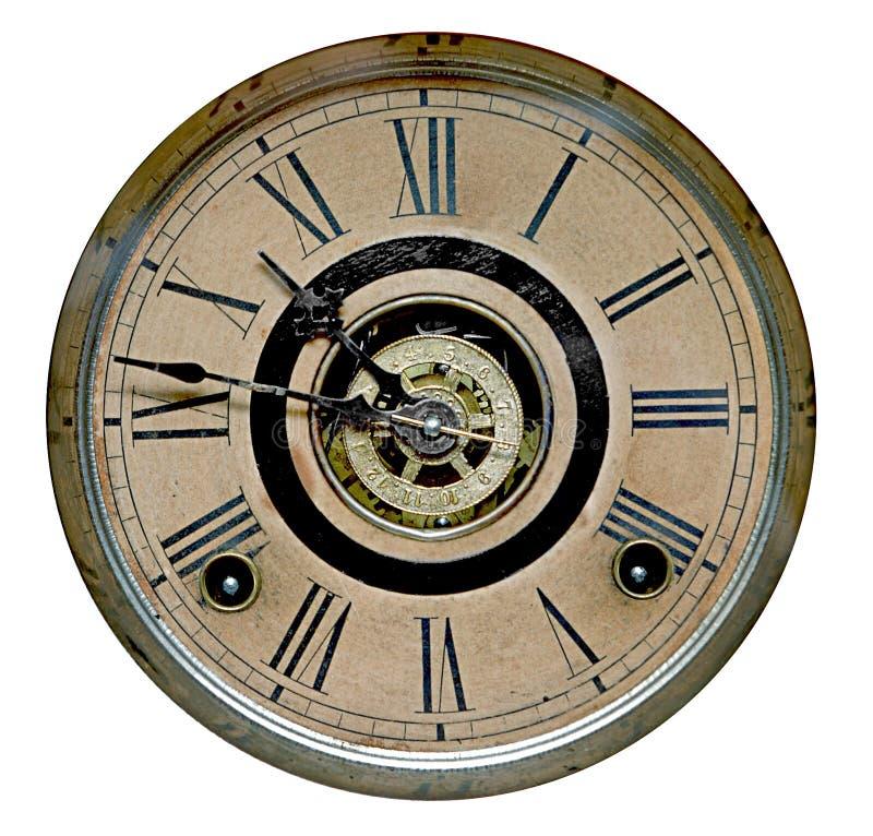 Gezicht van antiek staand horloge stock afbeelding