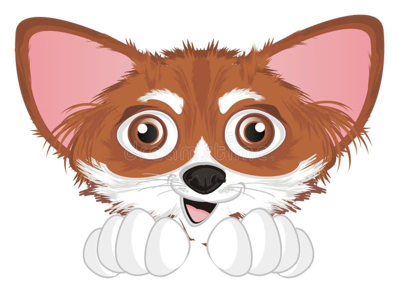 Gezicht van chihuahua vector illustratie