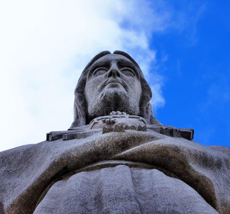 Gezicht van Cristo-rei van Lissabon royalty-vrije stock afbeeldingen