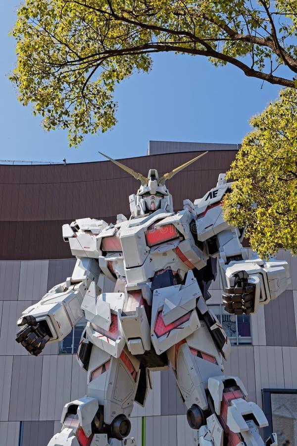 Gezicht van Gewapende manrobot in Odaiba royalty-vrije stock fotografie