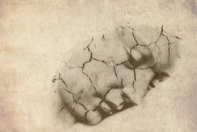 Gezicht van Grunge het maagdelijke Mary royalty-vrije stock afbeelding