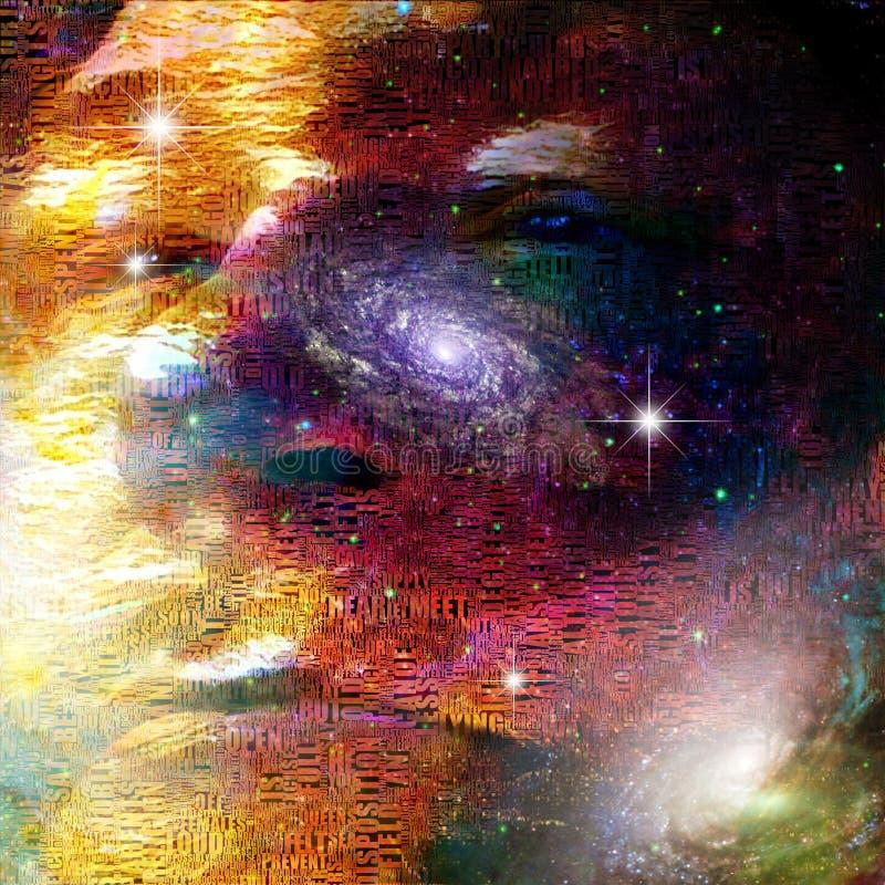 Gezicht van heelal stock illustratie